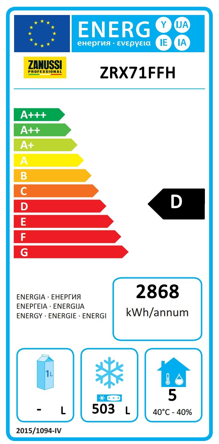 NAU Maxi<br>1 Porte 670L, AISI 304, -15-22°C (R290)