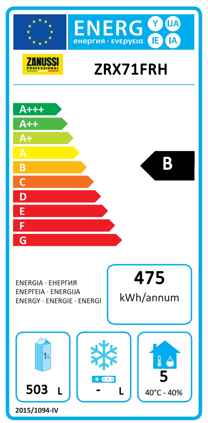 NAU Maxi HP<br>Frigo digitale 670 litri, 1 porta, -2+10°C, AISI 304, R290