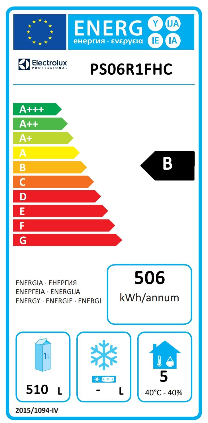 Prostore 800Frigo 720 litri, 1 porta, AISI 304, 0+10°C (Gas refrigerante R290)