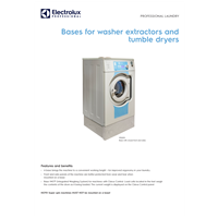 Bases and stacking kit for washer extractors and tumble dryers