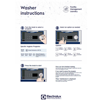 EPR Line 6000 CompassPro Washers-user wall instructions-Facility Management