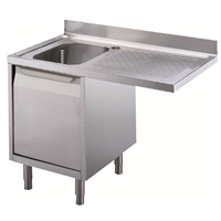 Standard Preparation1200 mm Cupboard Sink for Dishwasher with 1 Bowl & Right Drainer