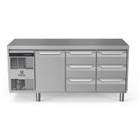 Digital Undercounterecostore HP Premium Refrigerated Counter - 440lt, 1-Door, 6x1/3 Drawers