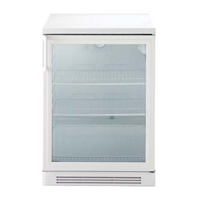 160 LineRefrigerated Counter 160 lt - undercounter glass door (white) R600a