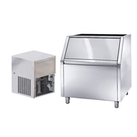 Produttori di ghiaccio<br>Produttore ghiaccio granulare, 280 kg/24h, raffreddato ad aria con contenitore da 200 kg