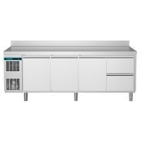 CRIO Line CP - 3 Door & 2 Drawer Refrigerated Counter, 560lt (-2/+10) - Upstand (R290)