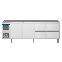 CRIO Line CP - 2 Door & 4 Drawer Refrigerated Counter, 560lt (-2/+10) - No Top (R290)