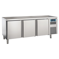 Pastry and Bakery Line - 3 Door Refrigerated Counter, -2°/+7°C, 600X400 grid