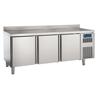 Pastry and Bakery Line - 3 Door Refrigerated Counter, -2°/+7°C, 600X400 grid - Upstand