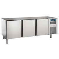 Pastry and Bakery Line - 3 Door Freezer Counter, -24°/-10°C, 600X400 grid - Upstand