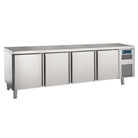 Pastry and Bakery Line - 4 Door Refrigerated Counter, -2°/+7°C, 600X400 grid