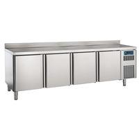Pastry and Bakery Line - 4 Door Refrigerated Counter, -2°/+7°C, 600X400 grid - Upstand