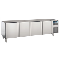 Pastry and Bakery Line - 4 Door Freezer Counter, -24°/-10°C, 600X400 grid - No Top