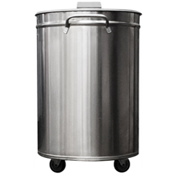 AccessoriesStainless Steel 50lt Mobile Bid with Lid