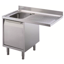 Preparación Standard1200 mm Cupboard Sink for Dishwasher with 1 Bowl & Right Drainer