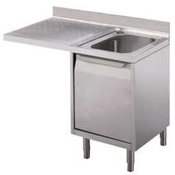 Standard Preparation1200 mm Cupboard Sink for Dishwasher with 1 Bowl & Left Drainer