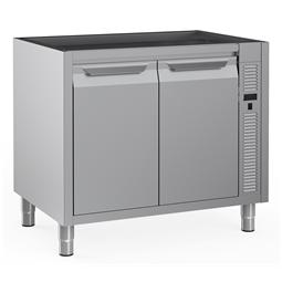 Preparazione Statica Standard<br/><br/><br>Vano armadiato caldo senza top con 2 porte a battente, 1000 mm
