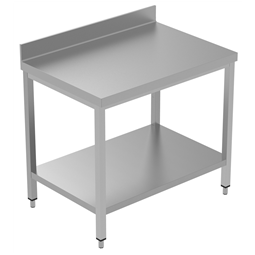 PLUS - Static Preparation1000 mm Work Table with Upstand and with Lower Shelf