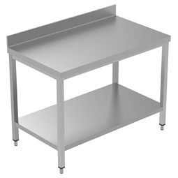 PLUS - Static Preparation1200 mm Work Table with Upstand and with Lower Shelf