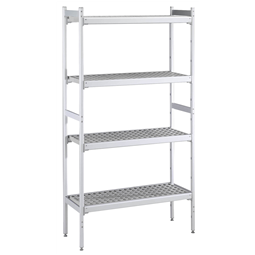 Stainless Steel PreparationShelving set for 1230x1230 mm cold room