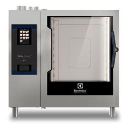 SkyLine PremiumSNatural Gas Combi Oven 10GN2/1, left hinged door, Green Version