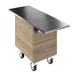 Idea<br>Ambient unit on cupboard (1GN) with wheels, H=750mm