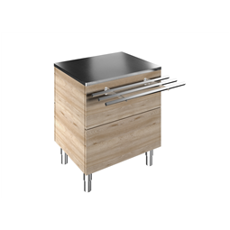 Flexy CompactAmbient Unit on cupboard (1 GN) with one stainless steel tray slider