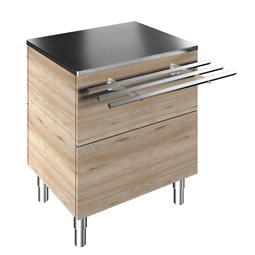 Flexy CompactAmbient Unit on cupboard (2 GN) with one stainless steel tray slider