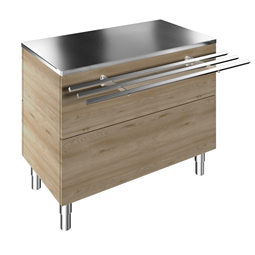 Flexy CompactAmbient Unit on cupboard (3 GN) with one stainless steel tray slider