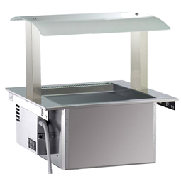 Drop-InRefrigerated Ventilated Well 2GN 1/1 with Gantry - remote