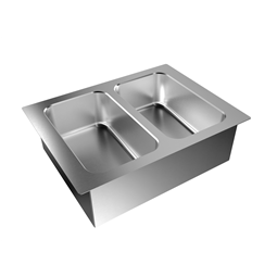 Drop-InDrop-in bain-marie, with two wells (2 GN container capacity)