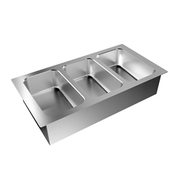 Drop-InDrop-in bain-marie, with three wells (3 GN container capacity)