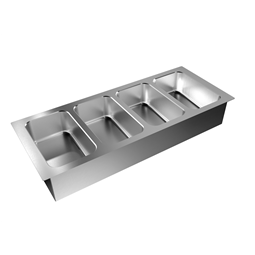 Drop-InDrop-in bain-marie, with four wells (4 GN container capacity)