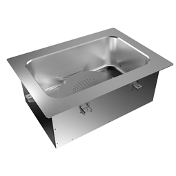 Drop-InDrop-in bain-marie, air ventilated, with one well (1 GN container capacity)