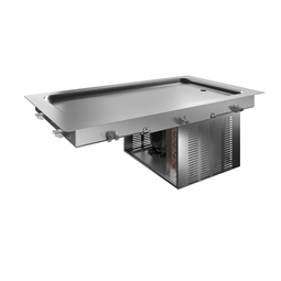 Drop-InDrop-in refrigerated stainless steel surface (3 GN container capacity)