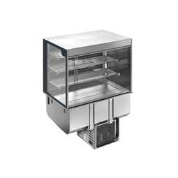 Drop-InDrop-in refrigerated well with refrigerated display, squared, medium service - 4 hours - 3GN