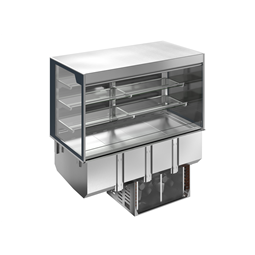 Drop-InDrop-in refrigerated well with refrigerated display, squared, medium service - 4 hours - 4GN
