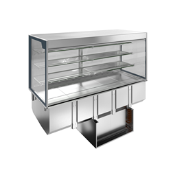 Drop-InDrop-in refrigerated well with refrigerated display, squared, medium service - 4 hours - 5GN