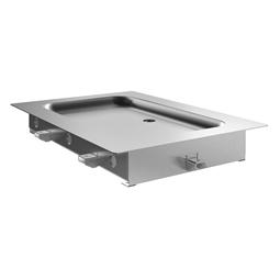 Drop-inPiano refrigerato da incasso in acciaio inox per 1 bacinella GN, predisposto per gruppo remoto