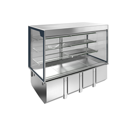 Drop-InDrop-in remote refrigerated well with refrigerated display, squared, medium service - 4 hours - 4GN