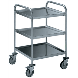 Service TrolleysThree Tier Service Trolley with Handle 600 mm