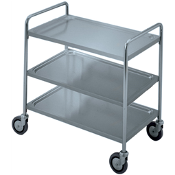 Service TrolleysThree Tier Service Trolley with Handle 900 mm