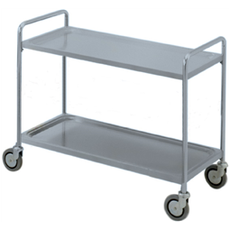 Service TrolleysTwo Tier Service Trolley with Handle 1200 mm