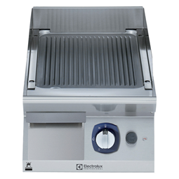 Modular Cooking Range Line700XP 400mm Gas Fry Top, Ribbed Brushed Chrome Plate