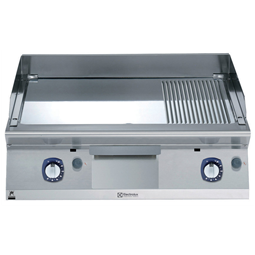 Modular Cooking Range Line700XP 800mm Gas Fry Top, Smooth and Ribbed Polished Chrome Plate