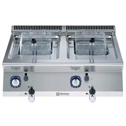 Modulaire bereidingsapparatuur700XP Friteuse 2x 7 lt, gas 14 kW, externe branders, topmodel