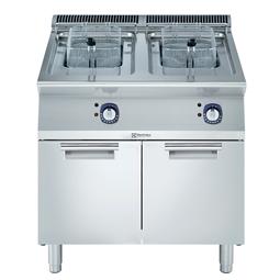 Modular Cooking Range Line<br>700XP Fritös. El. Golvmodell. 800mm. 7+7L