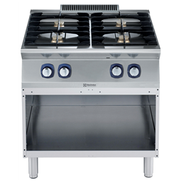 Modular Cooking Range Line700XP 4-Burner Gas Boiling Top on Open Base 800mm