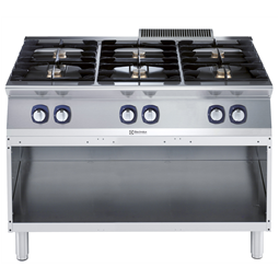 Modular Cooking Range Line700XP 6-Burner Gas Boiling Top on Open Base 1200mm