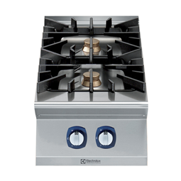 Modular Cooking Range Line900XP 2-Burner Gas Boiling Top with 3mm worktop and electric ignition
